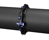 1100SDB - Mid Span Pipe Restraint for Rodding to or as an Anchor Point encased in a Thrust Wall