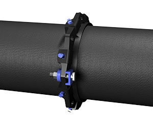 Series 1100SDB Split Mid Span Pipe Restraint on Ductile Iron Pipe