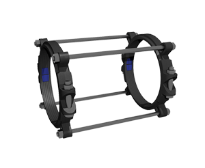 Series 1500TD Tru-Dual Push On Pipe Joint Restraint Harness For Both Ductile Iron Pipe and AWWA C900 PVC Pipe