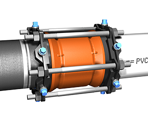Series 3800 MEGA-COUPLING coupling and restraining DIP and PVC Pipes